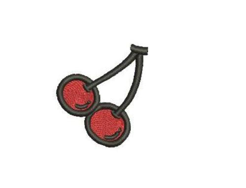 Спелая черешня-дизайн вышивки
